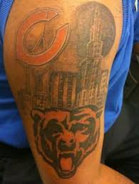 da bears chicago bears tattoo by deso chicago bears bulls
