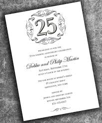 25 wedding anniversary invitations sunshinebizsolutions