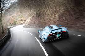 1500hp Koenigsegg Regera Prototype Rear Side Angle In Motion On
