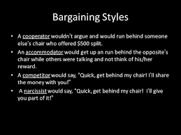 behind the chair styles advanced negotiating ppt download