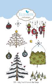 holiday trees u0026 ornaments clear stamps