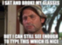 Broken Glasses Meme - broke my brand new glasses on christmas my previous ones broke too
