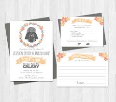 wedding wishes birmingham wars wedding invitation set suite printable darth vader