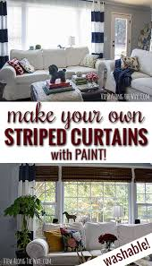 Washable Curtains How To Paint Striped Curtain Panels