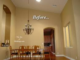 dining room molding ideas how to install crown molding on vaulted or cathedral ceilings