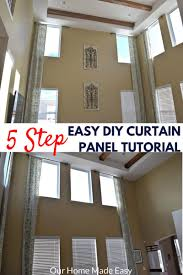 easy diy two story curtain panels in only 5 steps community
