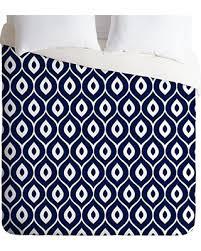 amazing deal deny designs aimee st hill leela navy duvet cover queen