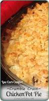 Low Carb Comfort Food Low Carb Chicken Potpie With Crumble Crust