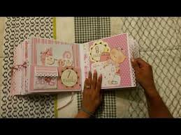 photo albums scrapbooks baby girl scrapbook mini album based on my interactive 8x8 album