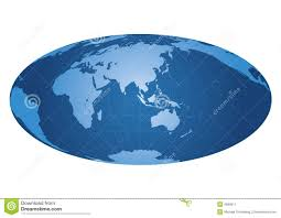 Asia World Map by World Map Centered On Asia Stock Image Image 4699511
