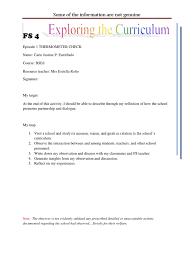 ffield study 4 docx curriculum educational assessment
