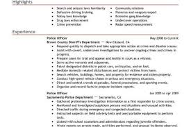 Sample Police Officer Resume by Warrant Officer Resume Summary Example Reentrycorps