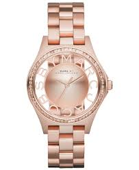 rose tone stainless steel bracelet images Lyst marc by marc jacobs women 39 s henry skeleton rose gold tone jpeg
