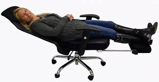 this reclining office chair is for sleeping on the job amazing