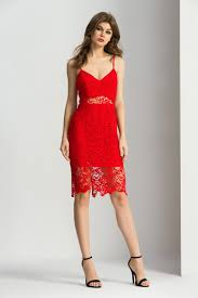 bodycon fashion lace dress in midi length seduce