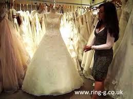 organza a line heavy beading swarovski wedding dress wedding gown