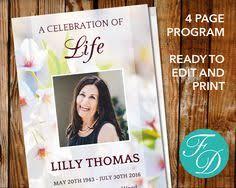 funeral program template set 8 page program plus prayer card