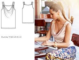 Draped Neckline Tops Lower Your Presser Foot Burda Of The Month 7 2013 110 Cowl Neck Top