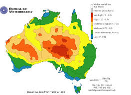 meteorology bureau australia fig 1 annual rainfall variability in australia from bureau of