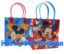 mickey mouse favor bags 30 pc mickey mouse party favor bags candy treat birthday durable