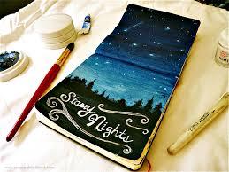 Journal Design Ideas Gratitude Journal Sitting Under The Stars Art Diary Eclectic