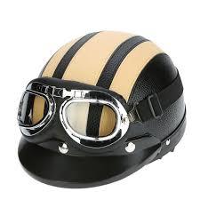 vintage motocross goggles motorcycle scooter open face half helmet visor uv goggles scarf