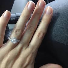 circle engagement ring with halo halo engagement ring ctw engagement rings in italy