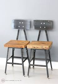 Reclaimed Wood Bar Stool Bar Stools Barstool Seating Chair Set Of 2 Industrial Barstools