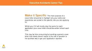 cover letter executive assistant u2013 aimcoach me