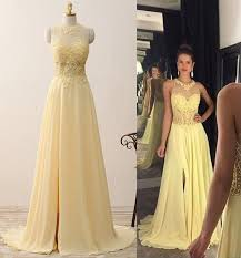 light yellow prom dresses a line prom dresses light yellow prom dresses applique prom