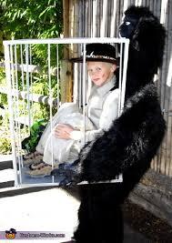 Gorilla Halloween Costumes Safari Man Captured Gorilla Creative Illusion Halloween Costume