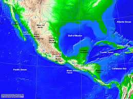 Caribbean Ocean Map by Central America Physical Map A Learning Family