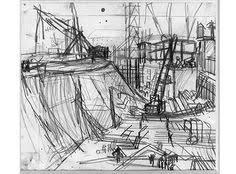 study for mornington crescent frank auerbach frank auerbach