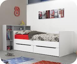 chambre timeo lit banquette enfant timéo blanc et gris 90x200 cm