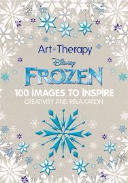 flip art therapy disney frozen coloring book