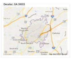 ga zip code map look at decatur ga zip code maps and estate home in decatur