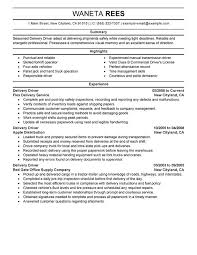 Stand Out Resume Examples by Unforgettable Delivery Driver Resume Examples To Stand Out Simple