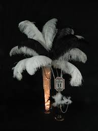 Where To Buy Ostrich Feathers For Centerpieces by Ostrich Feather Centerpieces And Table Markers Used For Our