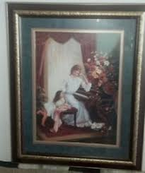 home interiors picture frames picture frame buy home interiors picture lady and child at piano