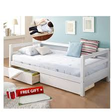 Wooden Sofa Bed Wooden Sofa Bed With Multifunctional Drawers White Free Futon