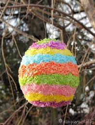 easter egg pinata how to make a colorful pinata does not to be egg shaped