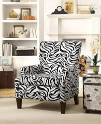 funiture zebra accent chairs without arm in high wooden legs