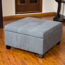 awesome grey colour fabric ottoman coffee table openable with
