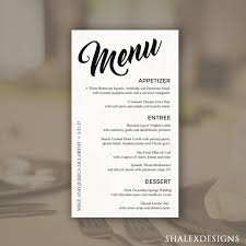 photoshop menu template wedding menu template printable dinner menu photoshop psd