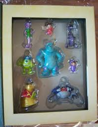 disney monsters inc storybook ornaments set nib