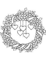 st valentine u0027s wreath coloring free printable coloring