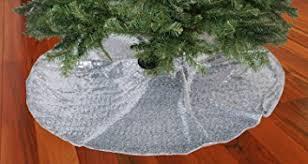 tree skirt silver 24inch tree skirt sequin