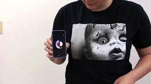 scary halloween shirts creepy doll face t shirt demonstration youtube