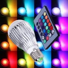 color changing light bulb with remote color changing led light bulb with remote control 2 pack walmart com