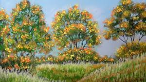 how to paint autumn landscape with pastel fall color pastel